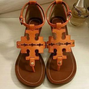 Tory Burch Chandler Wedge Sandal in Orange